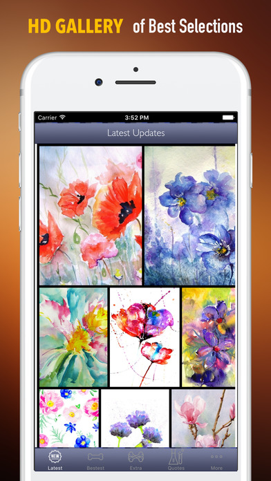 Watercolour Flowers Wallpapers HD- Quotes and Art screenshot 1