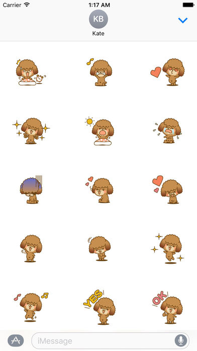 Lovely Toy Poodle Dog Stickers Pack screenshot 1