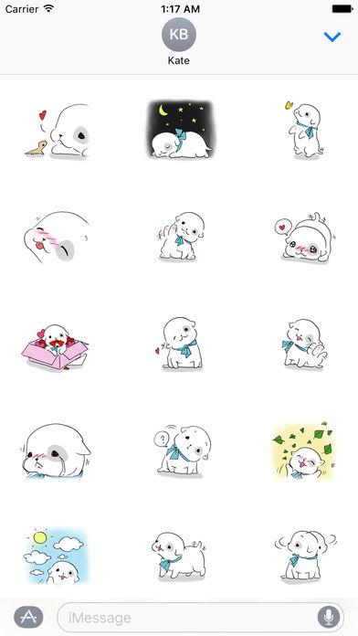 Sweet Puppy Stickers screenshot 1