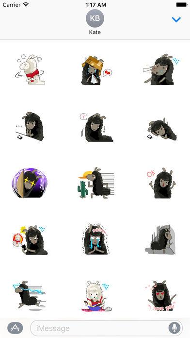 Valentine Day Of Llama Stickers screenshot 2