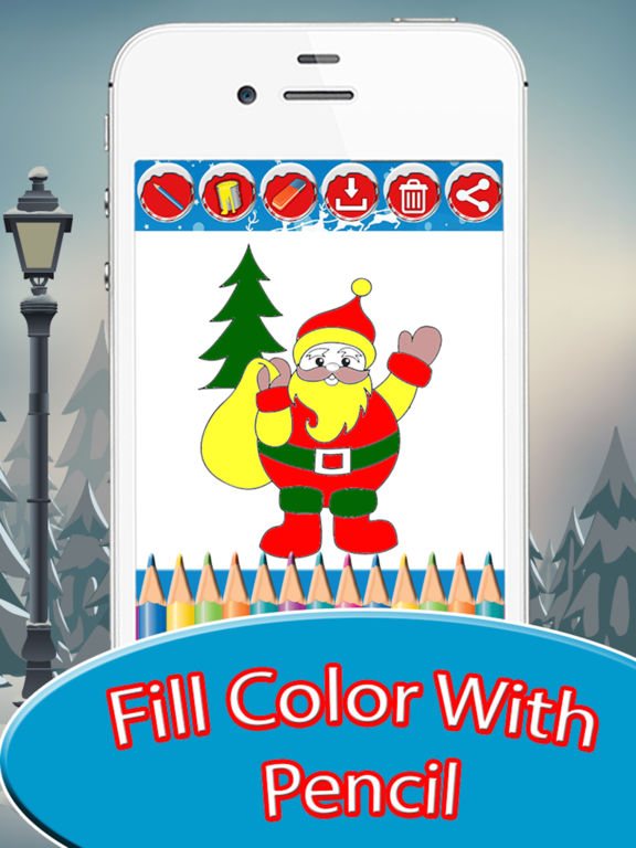 Kids Doodle Drawing Pad - Christmas Coloring screenshot 7