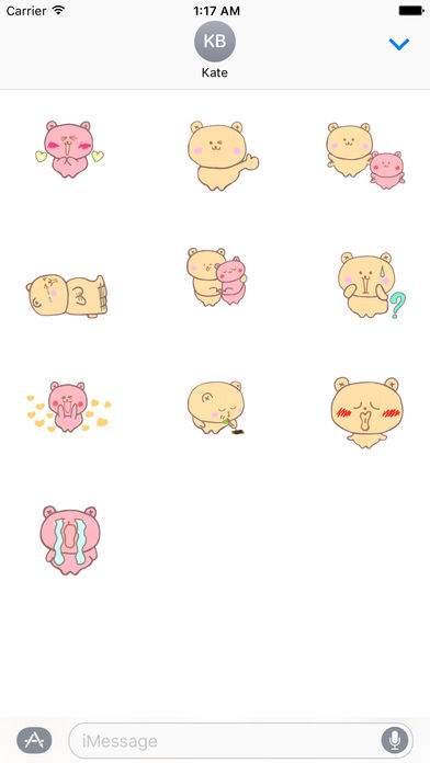 Couple Bear Stickers Pack screenshot 3