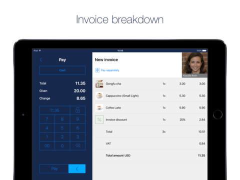 Paymash POS - Mobile iPad POS - náhled