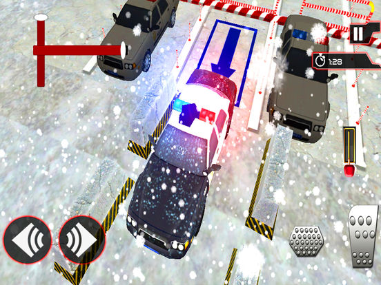 Snow City Police Parking : Real Driving Test Game screenshot 6