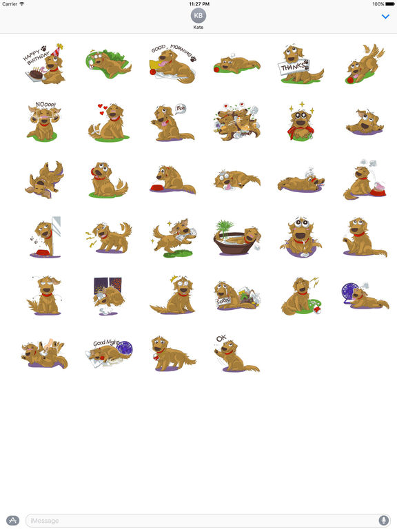 Cutie Retrievers Dog Stickers screenshot 4
