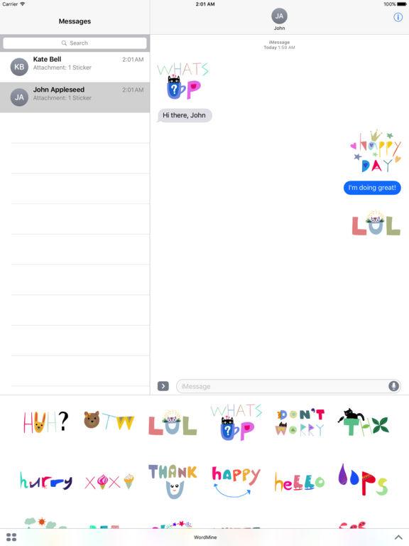 WordMine - Doodle Words Stickers screenshot 6