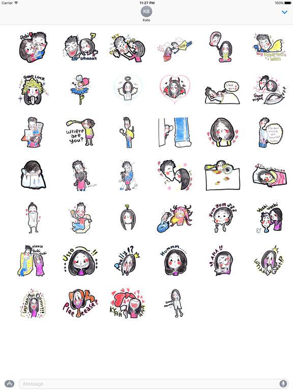 Cute Couple In Love Stickers Pack screenshot 4