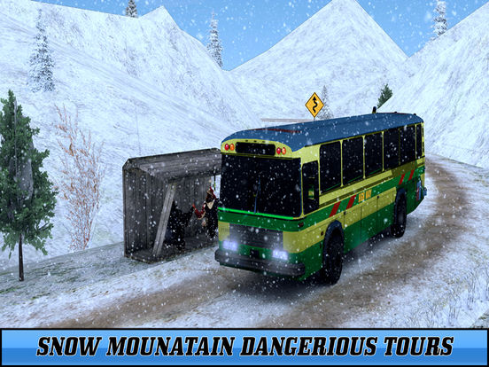 Snow Off-Road Bus Simulator screenshot 8