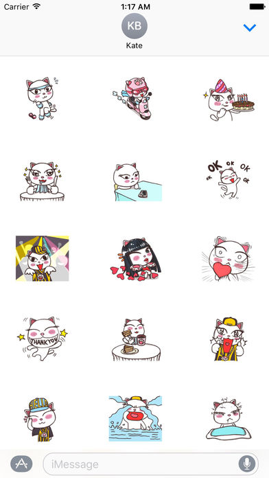 Graceful Cat Sticker screenshot 1