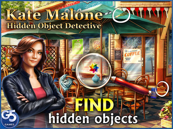 Kate Malone: Hidden Object Detective screenshot 1