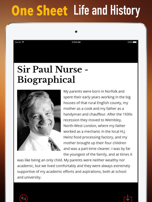 Biography and Quotes for Paul Nurse screenshot 7