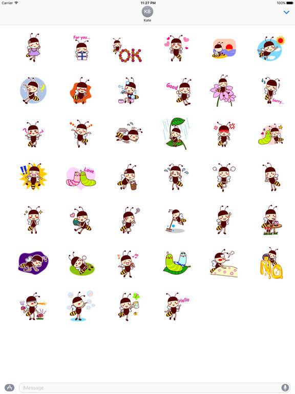 Adorable Bee Girl Sticker screenshot 4