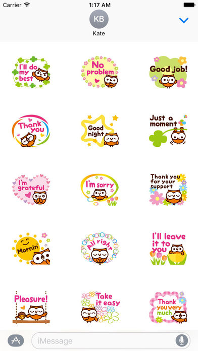 Lovely Owl Stickers screenshot 1