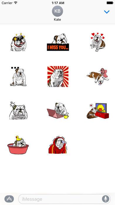 The English Bull Dog Stickers screenshot 3