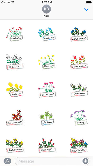 Language Of Flowers Sticker Packs screenshot 2
