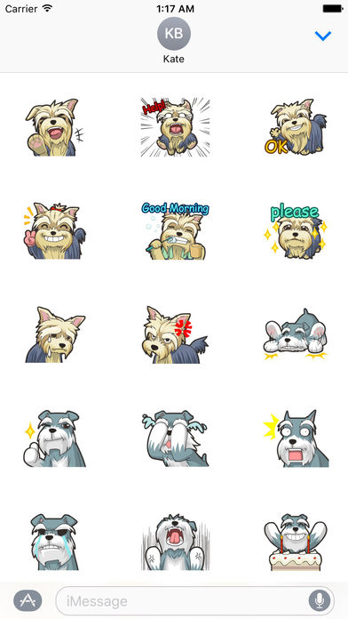 Funny Terrier Dog Stickers screenshot 2