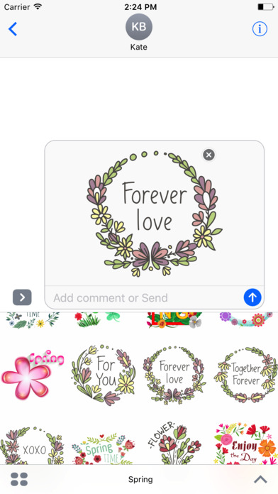 Spring Emoji Stickers for iMessage screenshot 2