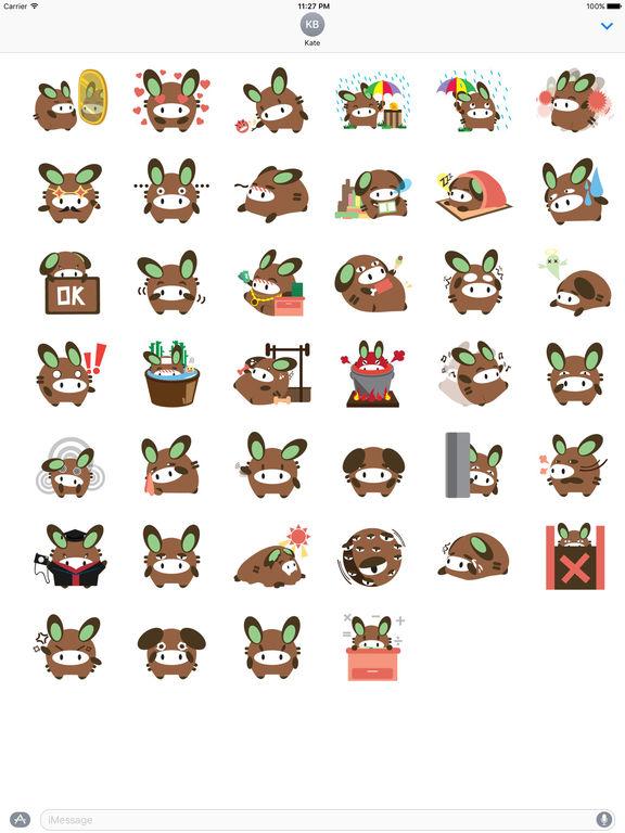Chubby Donkey Sticker screenshot 4