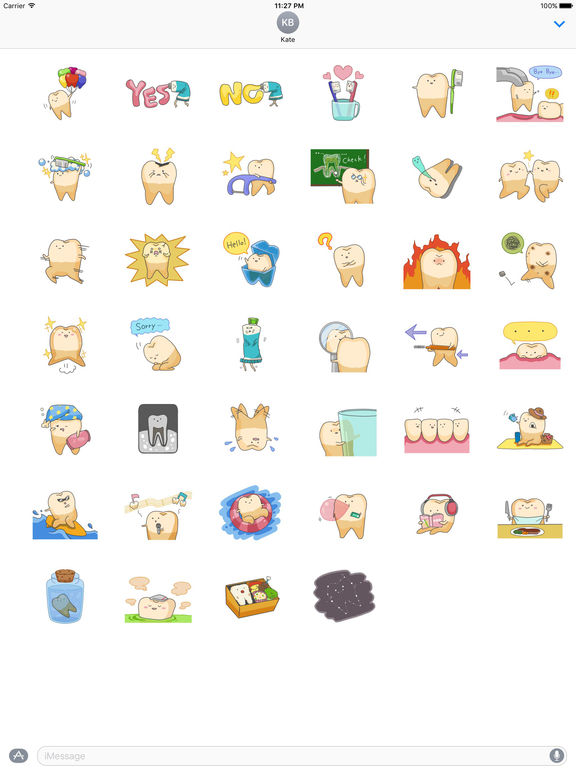 Baby Cute Tooth Stickers screenshot 4