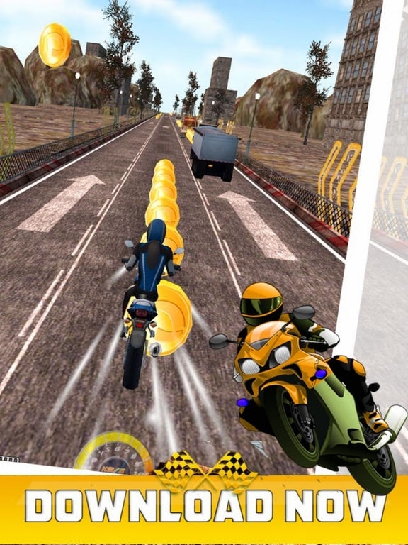 Crazy Racing Moto City screenshot 5