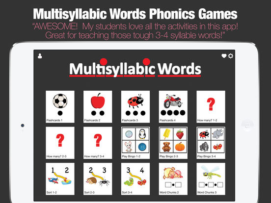 Multisyllabic Words screenshot 6