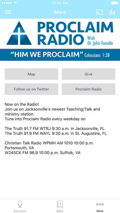 Proclaim Radio - John Fonville screenshot 3
