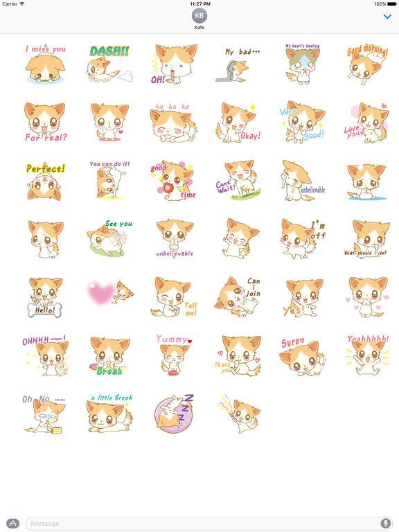 Lots Stickers Of Cute Puppy screenshot 4