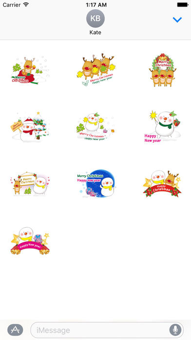 Lovely Cards For Merry Christmas Stickers screenshot 3