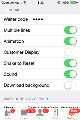 WaiterOne Remote for iPhone/iPod and iPad - náhled