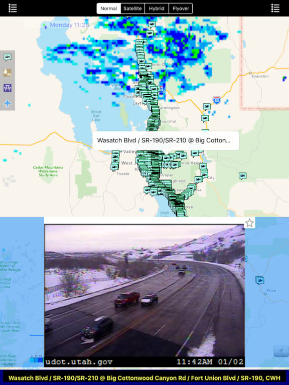 Utah NOAA Radar with Traffic Camera screenshot 6
