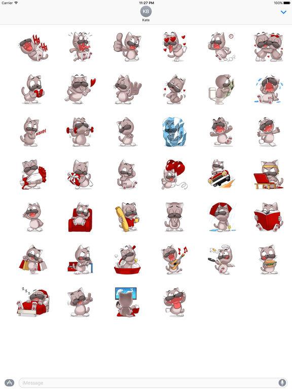 Lovesick Cat Stickers screenshot 4