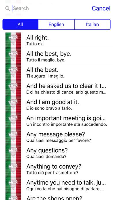 Italian Phrases screenshot 1