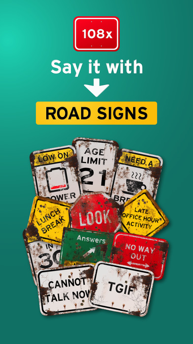 100+ Aged Funny Signs Sticker Pack (Rusty) screenshot 1