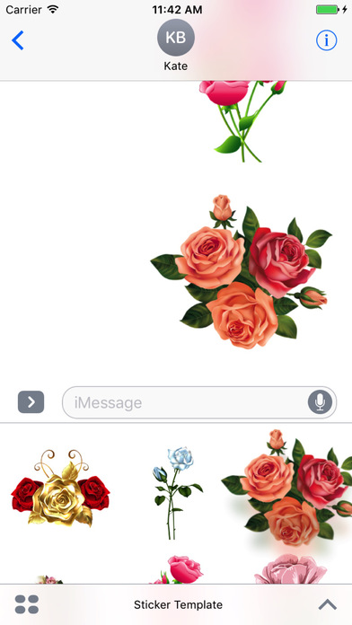Flower Bouquets Bundle Stickers screenshot 2