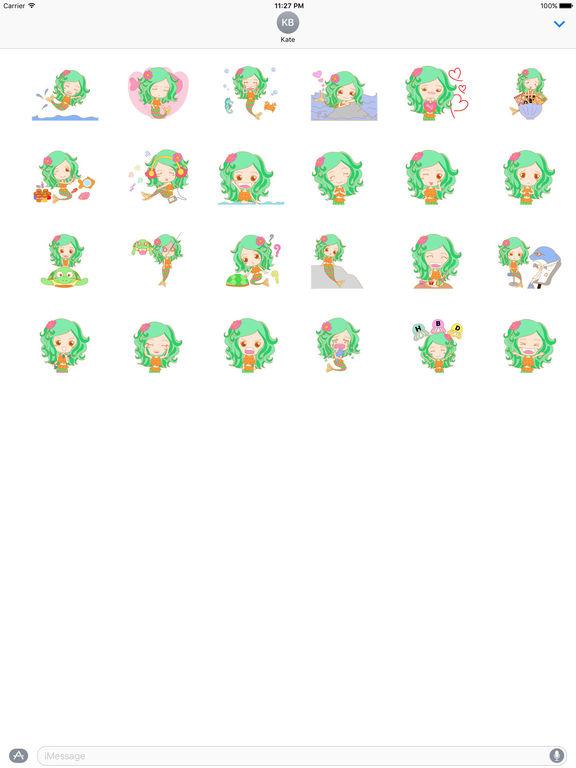 Pretty Mermaid Animated Sticker screenshot 3