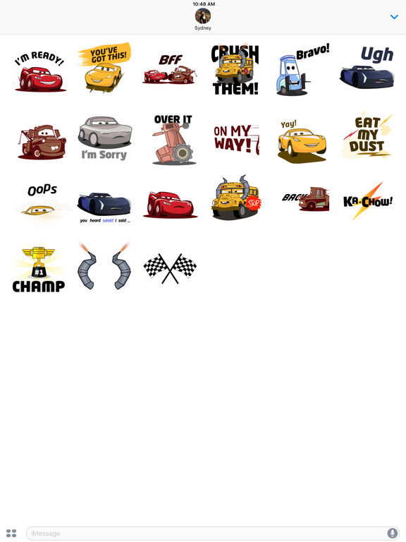 Pixar Stickers: Cars 3 screenshot 10