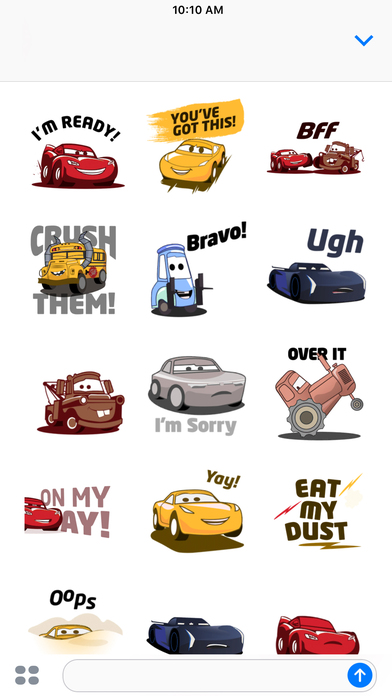 Pixar Stickers: Cars 3 screenshot 4
