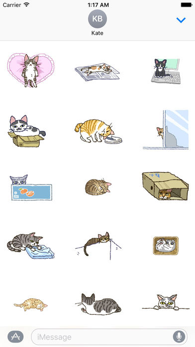 Adorable and Lazy Cat Animated Stickers screenshot 1