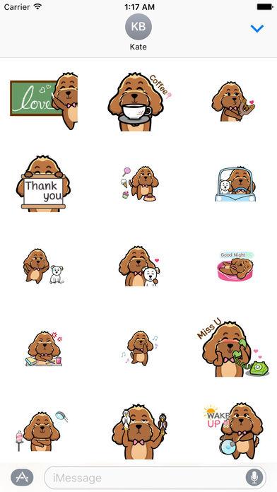 Animated Brown Dog Sticker screenshot 1