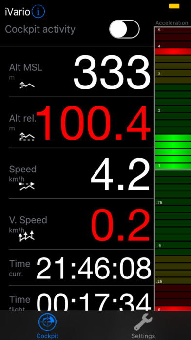 eVario - Variometer Paraglider screenshot 1