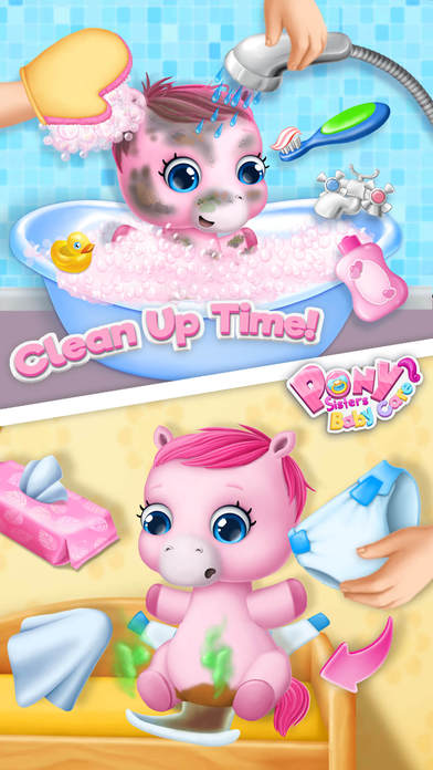Pony Sisters Baby Horse Care - Babysitter Daycare screenshot 3