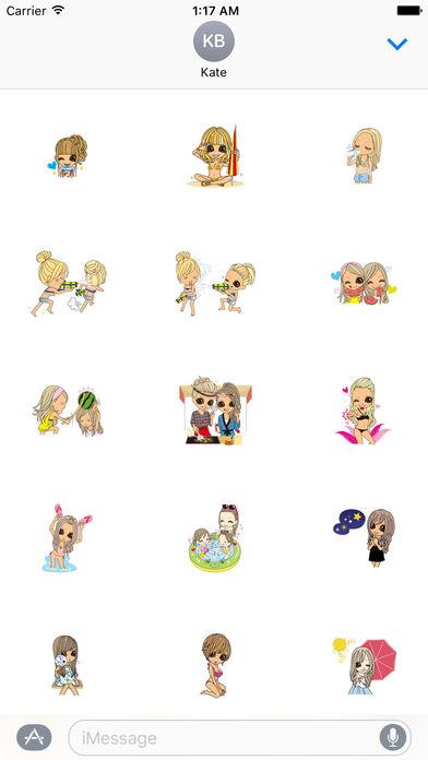 Beautiful Girls in Summer Sticker screenshot 4