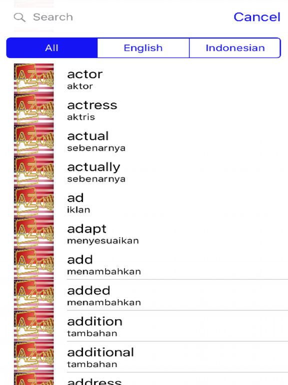 Indonesian Dictionary GoldEdition screenshot 7