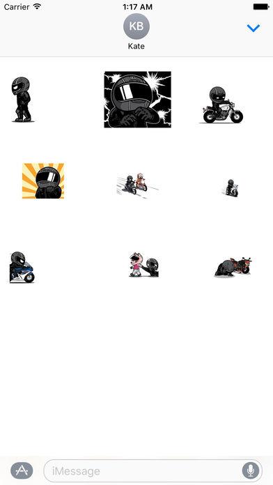 Animated Freeman Rider Stickers screenshot 2
