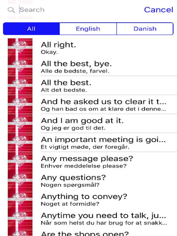 Danish Phrases Diamond 4K Edition screenshot 4