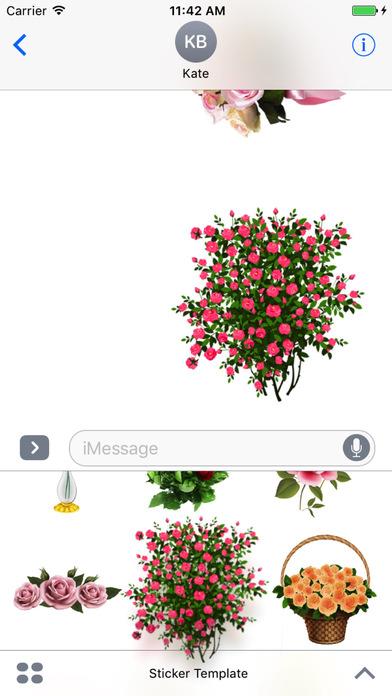 Flower Bouquets Bundle Stickers screenshot 3