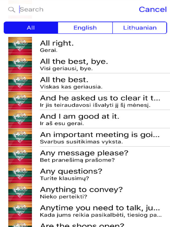 Lithuanian Phrases Diamond 4K Edition screenshot 4