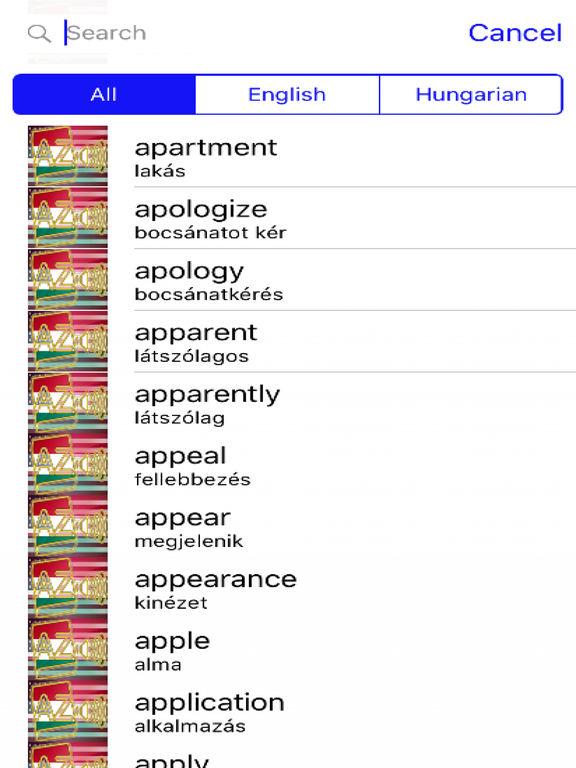 Hungarian Dictionary GoldEdition screenshot 9