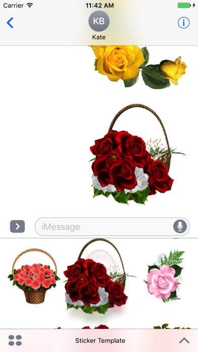 Flower Bouquets Bundle Stickers screenshot 1
