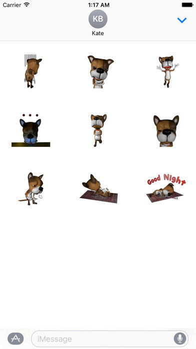 3D Lovely Dog - New Style Stickers Pack screenshot 3